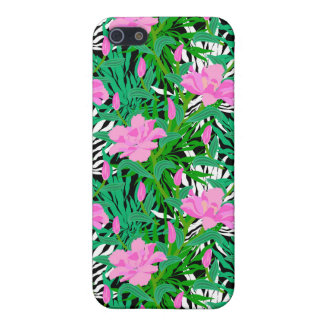 Tropical Pattern With Jungle Flowers Case For The iPhone 5