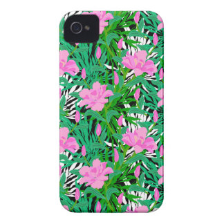Tropical Pattern With Jungle Flowers Case-Mate iPhone 4 Case