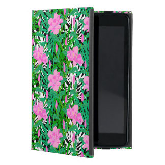 Tropical Pattern With Jungle Flowers Cover For iPad Mini
