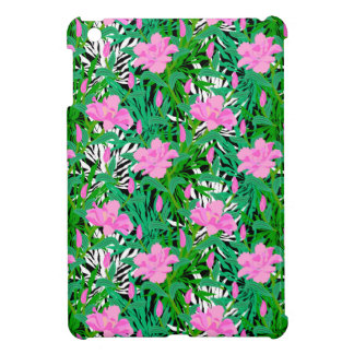 Tropical Pattern With Jungle Flowers Cover For The iPad Mini