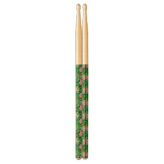 Tropical Pattern With Jungle Flowers Drumsticks