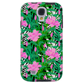 Tropical Pattern With Jungle Flowers Galaxy S4 Case