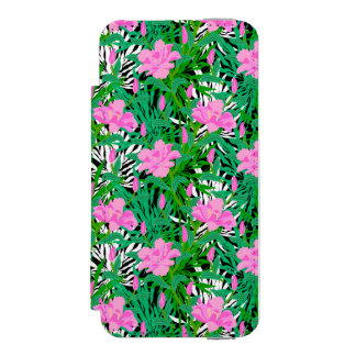 Tropical Pattern With Jungle Flowers Incipio Watson™ iPhone 5 Wallet Case
