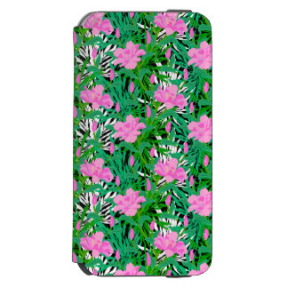 Tropical Pattern With Jungle Flowers Incipio Watson™ iPhone 6 Wallet Case