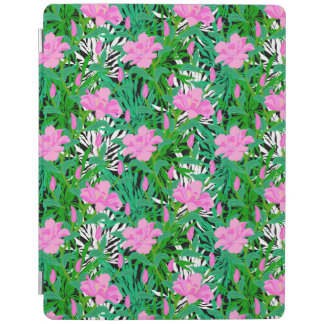 Tropical Pattern With Jungle Flowers iPad Cover