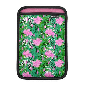 Tropical Pattern With Jungle Flowers iPad Mini Sleeve