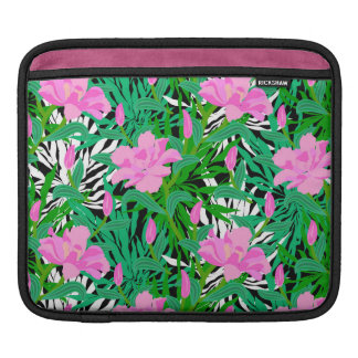Tropical Pattern With Jungle Flowers iPad Sleeve