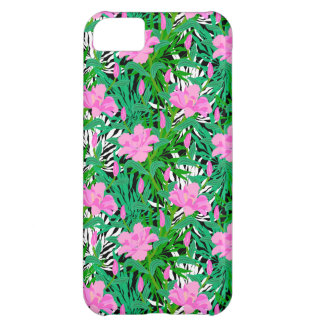 Tropical Pattern With Jungle Flowers iPhone 5C Case