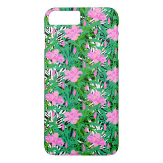 Tropical Pattern With Jungle Flowers iPhone 7 Plus Case