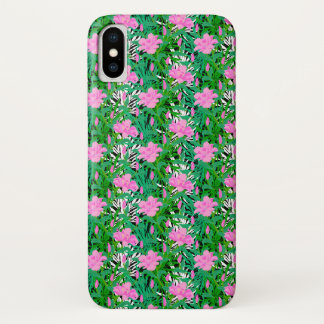 Tropical Pattern With Jungle Flowers iPhone X Case
