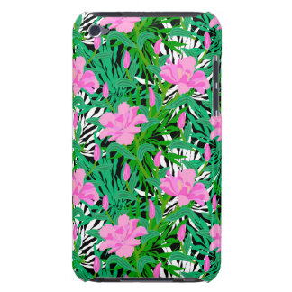 Tropical Pattern With Jungle Flowers iPod Case-Mate Case