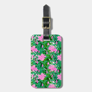 Tropical Pattern With Jungle Flowers Luggage Tag