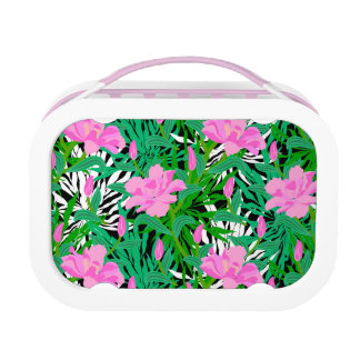 Tropical Pattern With Jungle Flowers Lunch Boxes