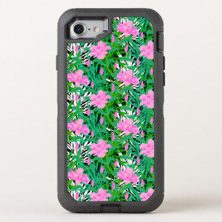 Tropical Pattern With Jungle Flowers OtterBox Defender iPhone 7 Case