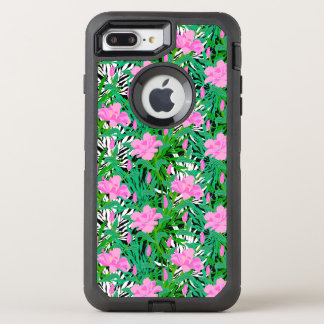 Tropical Pattern With Jungle Flowers OtterBox Defender iPhone 7 Plus Case