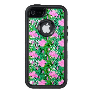 Tropical Pattern With Jungle Flowers OtterBox Defender iPhone Case