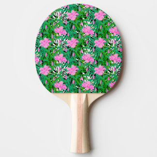 Tropical Pattern With Jungle Flowers Ping Pong Paddle