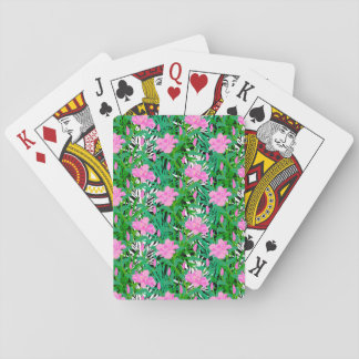 Tropical Pattern With Jungle Flowers Playing Cards