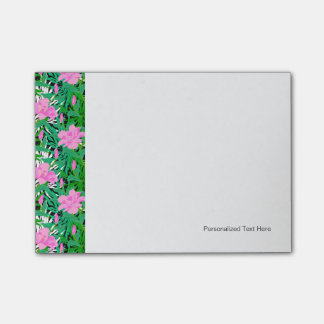 Tropical Pattern With Jungle Flowers Post-it Notes
