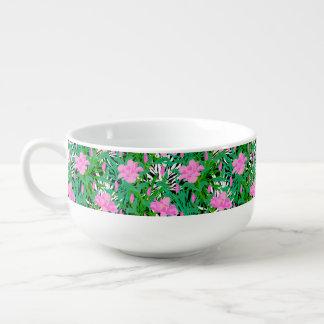 Tropical Pattern With Jungle Flowers Soup Mug