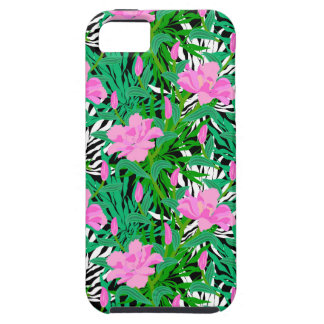 Tropical Pattern With Jungle Flowers Tough iPhone 5 Case