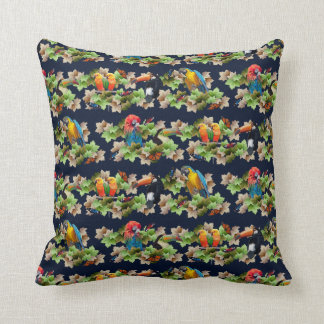 Tropical Pillow (Navy)