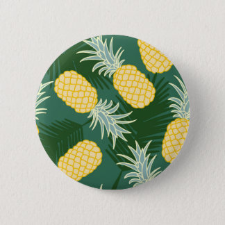 Tropical pineapple 6 cm round badge