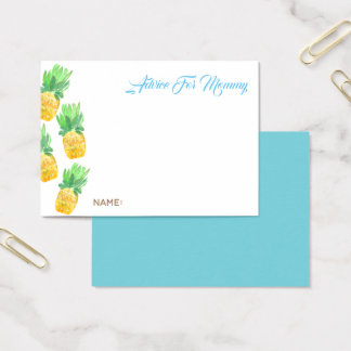 Tropical pineapple advice for mommy card baby boy