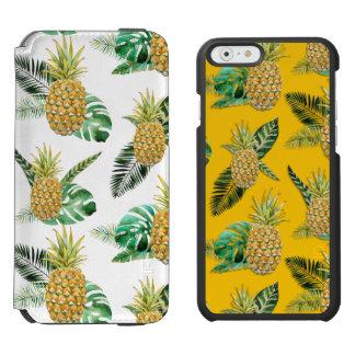 Tropical Pineapple Black Incipio Watson Phone Case Incipio Watson™ iPhone 6 Wallet Case
