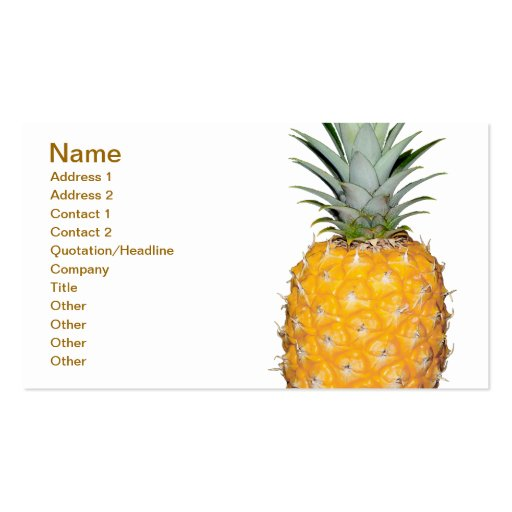 Tropical pineapple business card templates