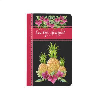 Tropical Pineapple Floral Bound Journal