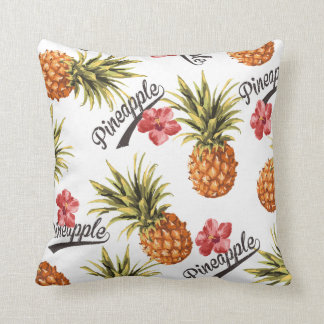 Tropical Pineapple Floral Decorative Throw Pillow