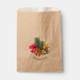 Tropical Pineapple Floral Snack Favor Favour Bags