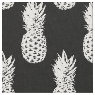 Tropical pineapple fruit pattern textile fabric