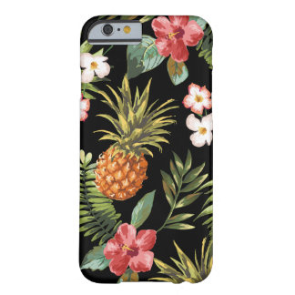 Tropical Pineapple Hibiscus Flowers iphone Cover