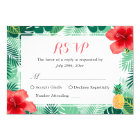 Tropical Pineapple Hibiscus Leaves RSVP Response Card