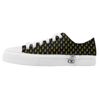 Tropical Pineapple Low Top Shoes Printed Shoes