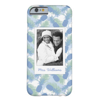 Tropical Pineapple Pattern | Add Your Photo & Name Barely There iPhone 6 Case