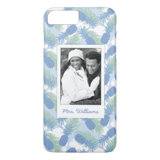 Tropical Pineapple Pattern | Add Your Photo & Name iPhone 8 Plus/7 Plus Case