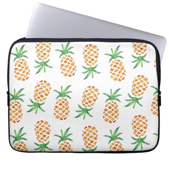 Tropical Pineapple Pattern Computer Sleeves