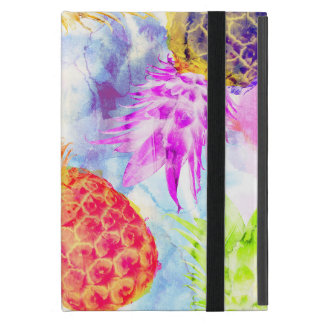 Tropical Pineapple Pattern Modern Watercolor iPad Mini Case