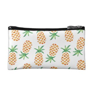 Tropical Pineapple Pattern Cosmetic Bag