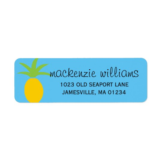 Tropical Pineapple Personalised Address Labels