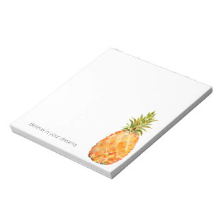Tropical Pineapple Personalized Notepad