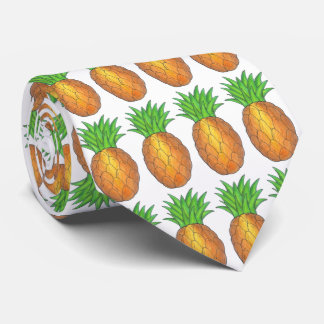 Tropical Pineapple Pineapples Necktie