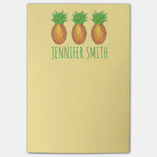 Tropical Pineapple Pineapples Personalized Post It Post-it Notes