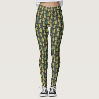 Tropical Pineapple print Leggings