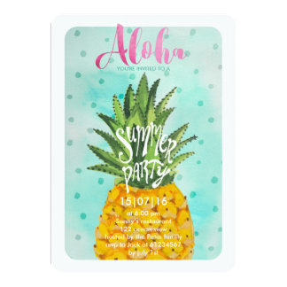 Tropical Pineapple | Summer Luau Party Invitation