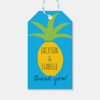 Tropical Pineapple Wedding Favor Tags