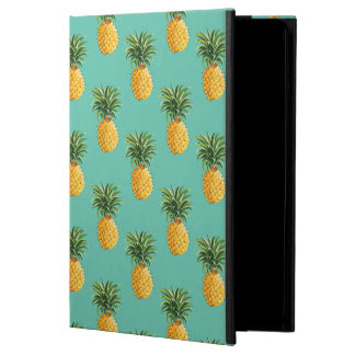 Tropical Pineapples On Teal iPad Air Case